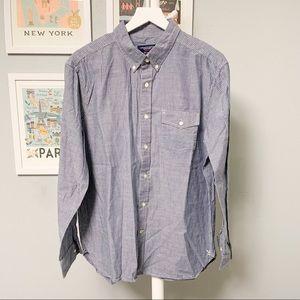 American Eagle Striped Button-Down Shirt XL